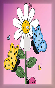 Butterfly and Sunflower Switch Plate Cover