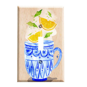 Lemon Tea Light Switch Plate - Home Kitchen Decor