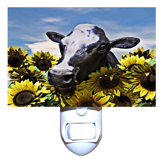 Cow in Sunflowers Night Light