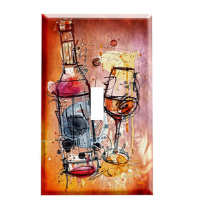 Modern Art Wines Switch Plate Cover