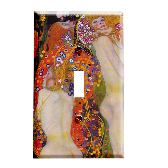 Gustav Klimt Water Snakes Sea Serpents II Switch Plate Cover