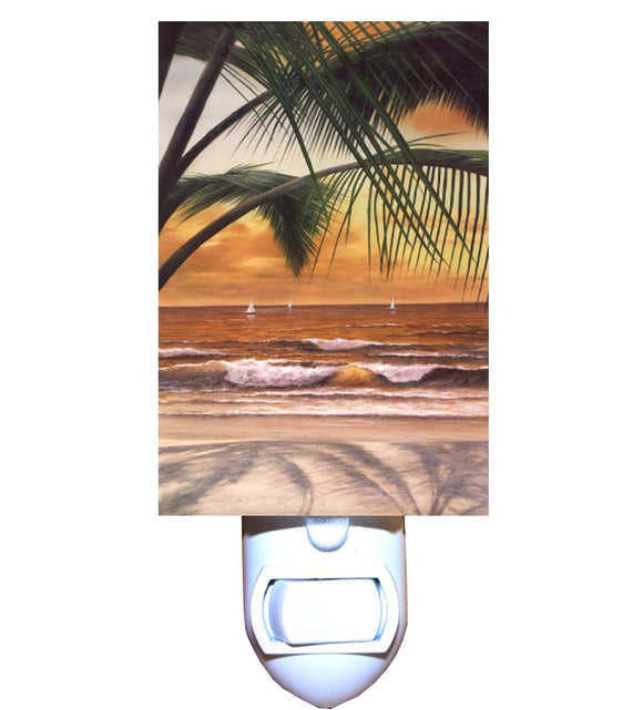 Palm Sunset Night Light