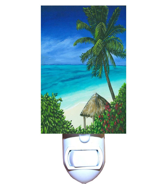 Tiki Beach Hut Night Light