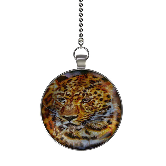 The Leopard Fan/Light Pull Pendant with Chain