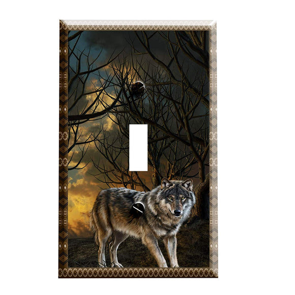 Wolf Lodge Switch Plate Cover
