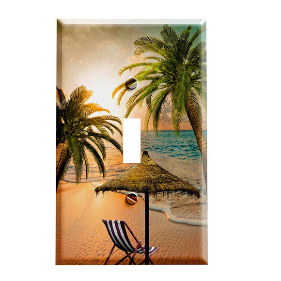 Tropical Beach Getaway Switch Plate Cover