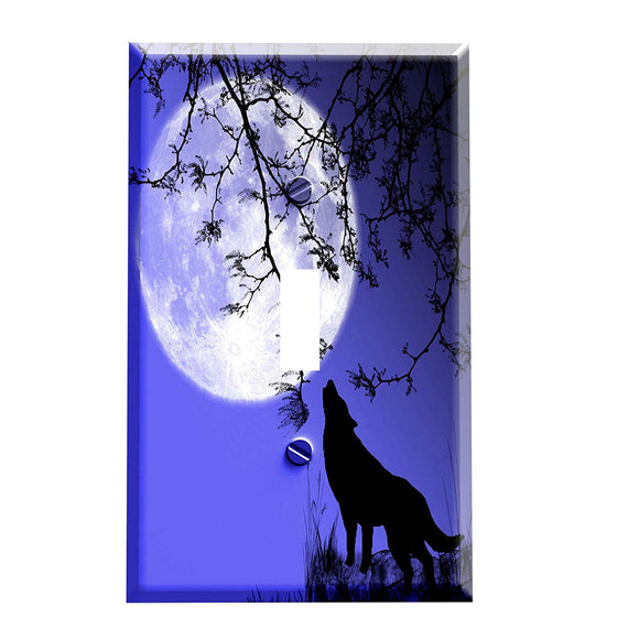 Wolf Moon Hill Switch Plate Cover