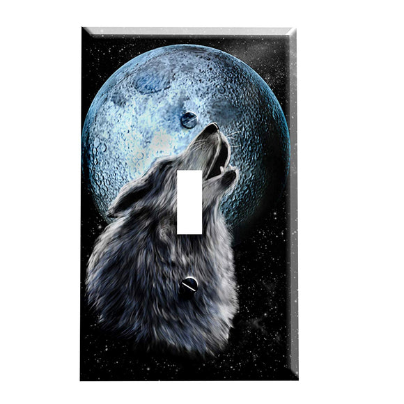 Howling Wolf Switch Plate Cover