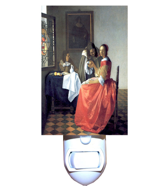 Girl with a Wine Glass by Vermeer Night Light