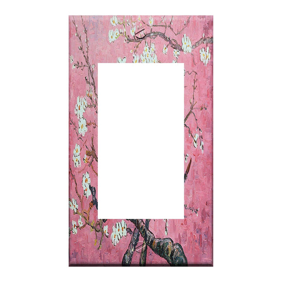 Van Gogh Almond Blossoms Pink GFI Rocker Switchplate Cover