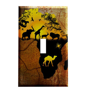 Africa and Its Animals Switch Plate Cover