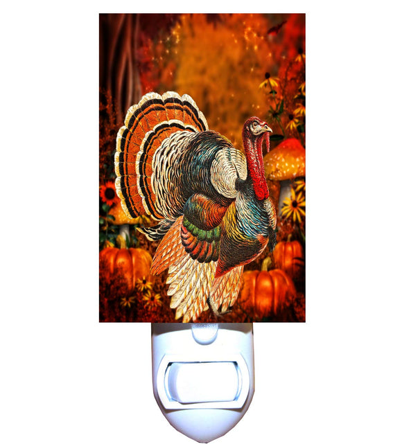 Classic Thanksgiving Turkey Night Light