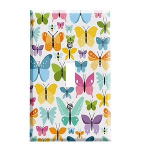 Butterflies and Bees Switch Plate Cover - Nature Home Decor