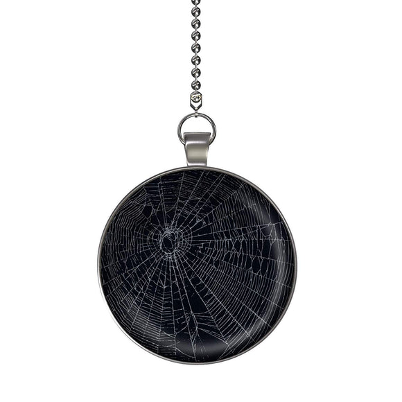 Spider Web Fan/Light Pull Pendant with Chain