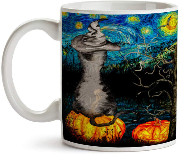 Starry Night Halloween Night 11oz Coffee Mug - Tea Mug