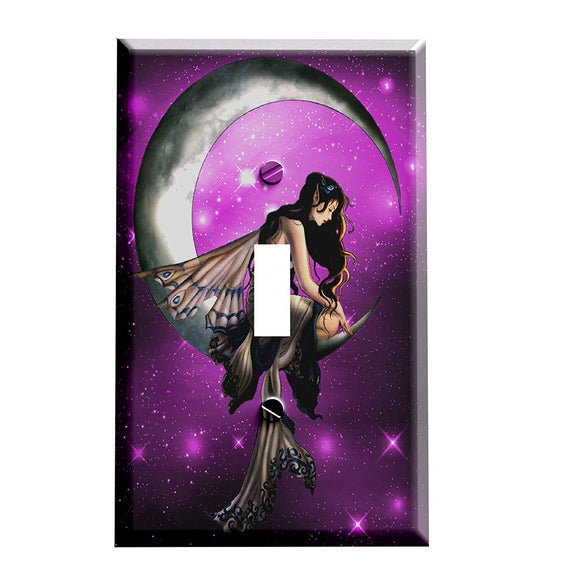 Moon Star Fairy Switch Plate Cover