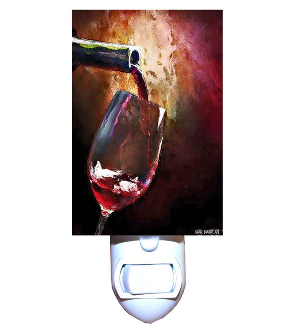 Pouring Red Wine Night Light