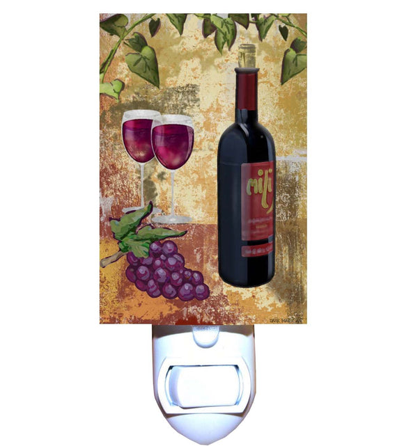 Grapes and Red Wine Night Light
