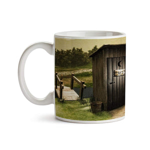 His and Her Outhouse 11oz Coffee Mug - Tea Mug