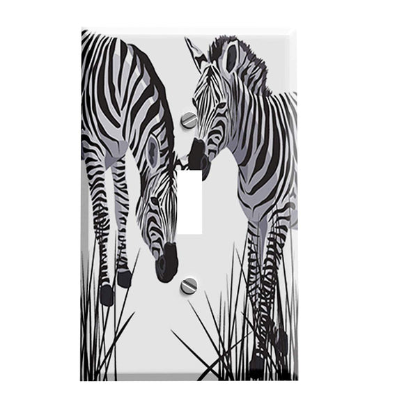 Zebra Pair Switch Plate Cover