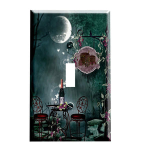 Moonlit Wine Switch Plate Cover - Wine Themed Decor