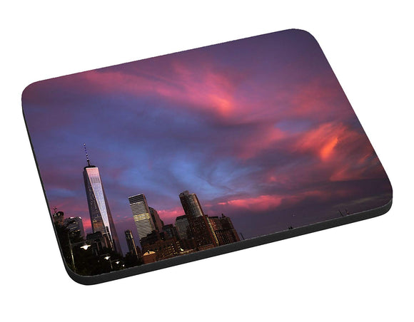 Cotton Candy Skyline Mouse Pad