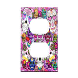 Psychedelic Sugar Skulls Decorative Outlet Cover