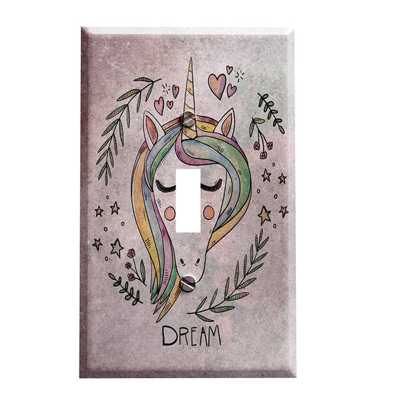 Unicorn Dreamer Switch Plate Cover
