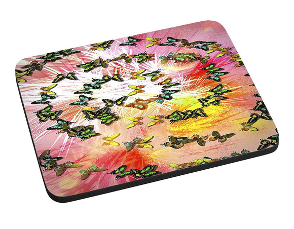 Butterfly Swirl Mouse Pad
