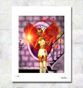 Magical Star Fairy Limited Edition Fine Art Print By Gina Brake