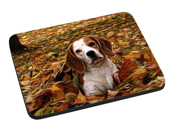 Autumn Beagle Mouse Pad