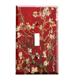 Van Gogh Almond Blossoms Red Switch Plate Cover