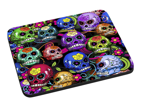 Colorful Sugar Skulls Mouse Pad