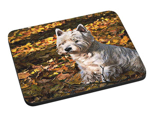Autumn West Highland Terrier Mouse Pad