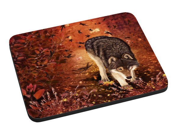 Autumn Wolf Mouse Pad