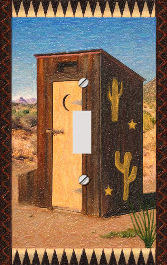 Southwest Outhouse Switch Plate Cover