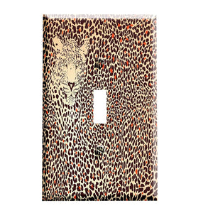 Leopard in Leopard Print Switch Plate Cover
