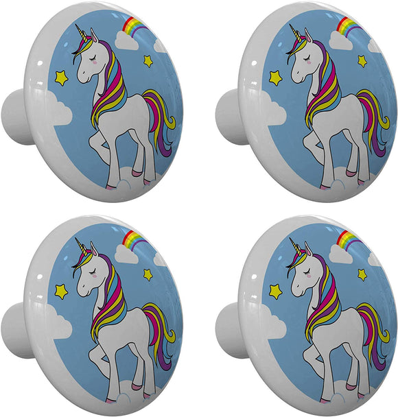 Set of 4 Unicorn Cloud Walker Drawer Knobs