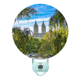 Central Park Willows by Gina Brake Decorative Round Night Light