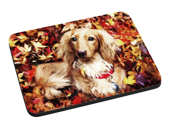 Autumn Dachshund Mouse Pad