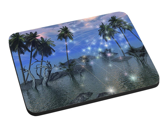 Celestial Palm Trees Mouse Pad