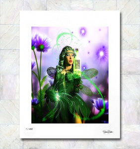The Absinthe Fairy Limited Edition Signed Fine Art Print By Gina Brake