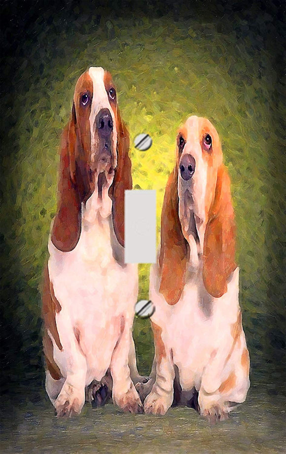Basset Hound Pair Switch Plate Cover