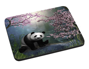 Cherry Tree Panda Mouse Pad