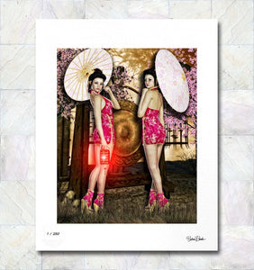 Double Trouble Limited Edition Fine Art Print By Gina Brake