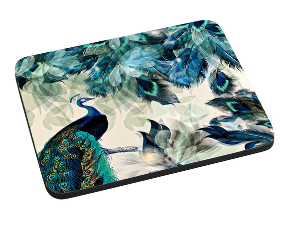 Gotham Decor Abstract Peacock Print Mouse Pad
