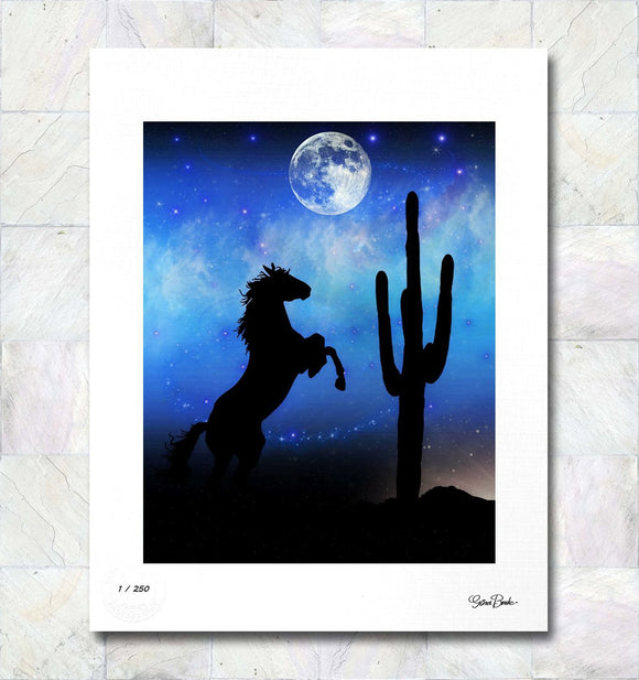 Midnight Ride Limited Edition Signed Fine Art Print By Gina Brake