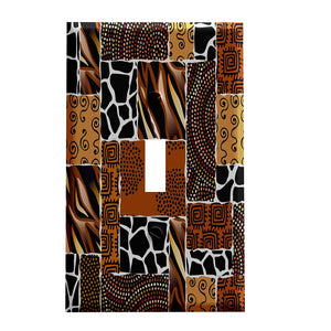 Animal Print Cubes Switch Plate Cover