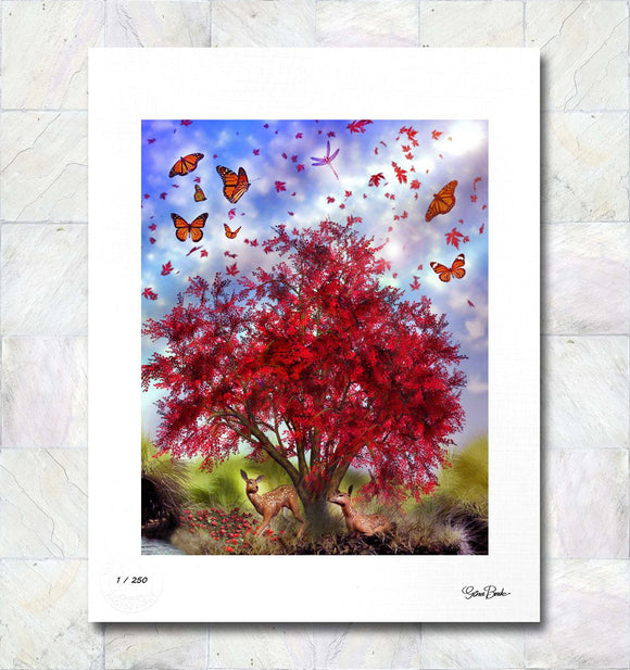 Monarch Meadow Limited Edition Signed Fine Art Print By Gina Brake