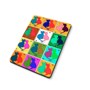 Abstract Cats Mouse Pad